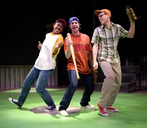 Erika Rose, Derek Manson and Zack Colonna at Imagination Stage. Photo Credit: Scott Suchman