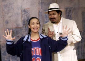 Rosa and Padrino at Imagination Stage, Bethesda, MD production