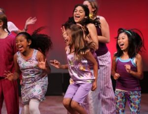 Natalie Womack, Alice Dupler, Emma Mizrahi-Powell and Julia Chang in Youth Cast Premiere, Norris Center for the Performing Arts. Photo credit: Laurie Halvorsen.